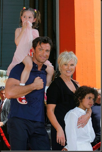 Hugh Jackman Hand Footprint Ceremony Grauman
