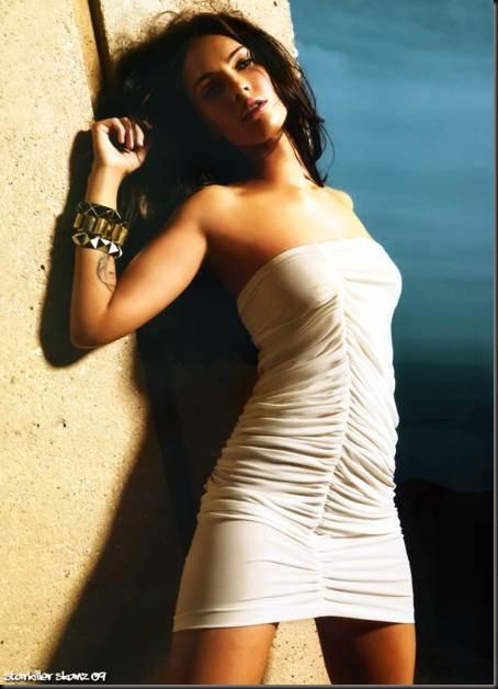 Megan-Fox-con-un-mini-vestido-blanco