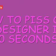 40 segundos para sacar de sus casillas a cualquier diseñador