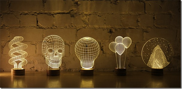 BULBING-a-2D-LED-lamp-using-3D-wireframe